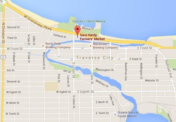 Location of Sara Hardy Farmers Market