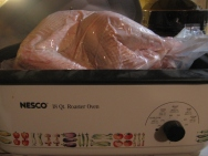 Turkey in roaster